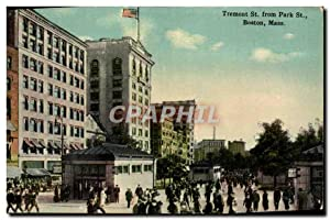 Carte Postale Ancienne Tremont St From Park St Boston Mass