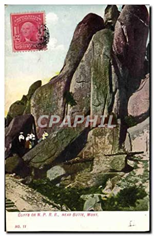 Carte Postale Ancienne Cliffs On P R R Near Butte Mont