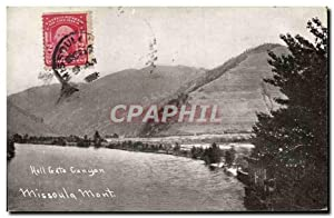 Carte Postale Ancienne Hell Gate Canyon Missoula Mont