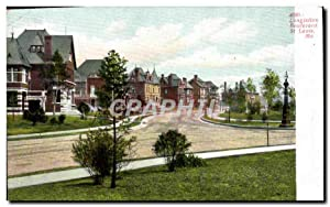 Carte Postale Ancienne Longfellow Boulevard St Louis Mo