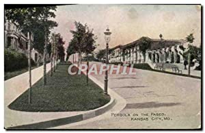 Carte Postale Ancienne Pergola On The Paseo Kansas City Mo