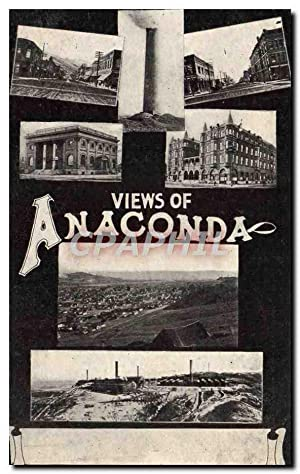 Carte Postale Ancienne Views Of Anaconda