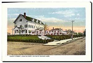 Carte Postale Ancienne County Street Looking West Opposite Capron Park High school