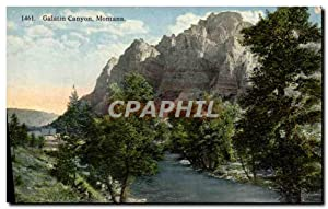 Carte Postale Ancienne Galatin Canyon Montana