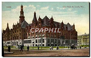 Carte Postale Ancienne City Hall St Louis Mo