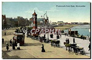 Carte Postale Ancienne Promenade From East Morecambe