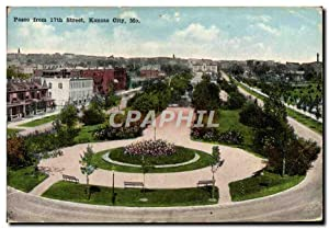 Carte Postale Ancienne Paseo From Street Kansas City Mo