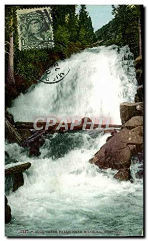 Carte Postale Ancienne Rock Creek Falls Near Missoula Montana