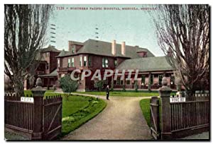 Carte Postale Ancienne Northern Pacific Hospital Missoula Montana
