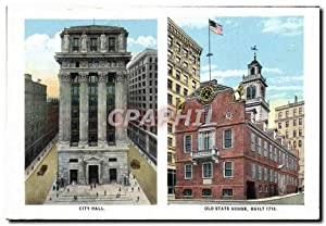 Carte Postale Ancienne City Hall Old State House Built MIT Cambridge