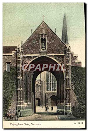 Carte Postale Ancienne Erpingham Gate Norwich