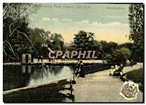 Carte Postale Ancienne Boating Pool Cannon Hill Park Birmingham