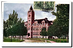 Carte Postale Ancienne University Of Montana Main Building Missoula Mont