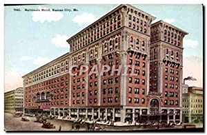 Carte Postale Ancienne Baltimore Hôtel Kansas City Mo
