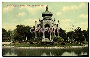 Carte Postale Ancienne Band Pagoda Forest Park St Louis