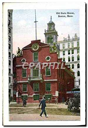Carte Postale Ancienne Old State House Boston Mass North station