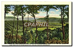 Carte Postale Ancienne View From Top Of Peter Mountain Looking Towards Harrisburg State Capitol a...