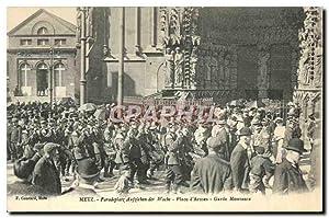 Carte Postale Ancienne Metz Paradeplatz Aufzieben der