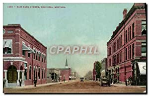 Carte Postale Ancienne East Park Avenue Anaconda Montana