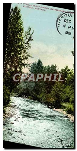 Carte Postale Ancienne Typical Trout Stream Rattlesnaee Missoula Montana