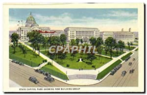 Carte Postale Ancienne State Capital Park Showing New Building Group Cygne Italian gardens