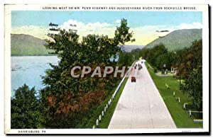 Carte Postale Ancienne Looking West On WM Penne Highway And Susquehanna River From Rockville Brid...