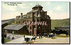 Carte Postale Ancienne Passenger Station Pittsburgh Pa Train