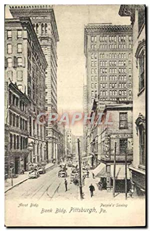 Carte Postale Ancienne Bank Bldg Pittsburgh Pa