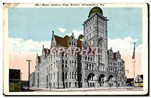 Carte Postale Ancienne Boys Central High School Philadelphia Pa