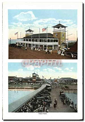 Carte Postale Ancienne The Tivoli Dance Pavillon the Pier Wesley House From Wesley Harbor