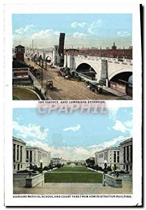 Carte Postale Ancienne The Viaduct East Cambridge Extension Harvard Medical SchoolBoylston St fro...