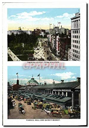 Carte Postale Ancienne Tremont Street From Boylston Faneuil Hall And Quincy Market Christian Chur...