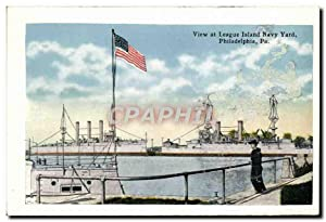 Carte Postale Ancienne View At League Island Bavy Yard Philadelphia Pa The sunken garden Fairmoun...