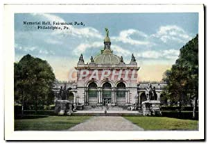 Carte Postale Ancienne Memorial Hall Fairmount Park Philadelphia Pa View of East River Drive Fair...
