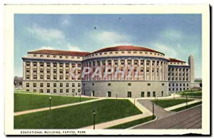 Carte Postale Ancienne Educational Building Capital Park harrisburger Hôtel and Payne Shoemaker B...