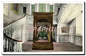 Carte Postale Ancienne Liberty Bell And Stairway Independence Hall Philadelphia Pa