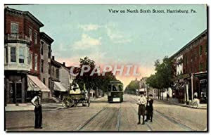 Carte Postale Ancienne View On North Street Harrisburg Pa Tramway