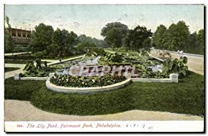 Carte Postale Ancienne The Lily Pond Fairmount Park Philadelphia