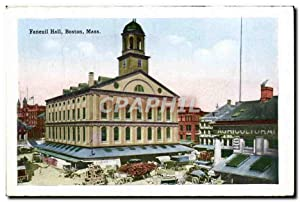 Carte Postale Ancienne Faneuil Hall Boston Mass South station Atlantic Ave