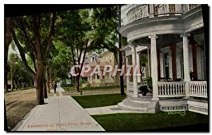 Carte Postale Ancienne Residences On North From Street Milton Pa