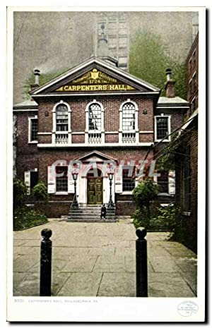 Carte Postale Ancienne Carpenters Hall Philadelphia Pa
