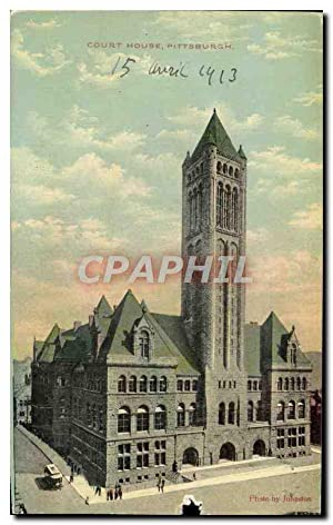 Carte Postale Ancienne Court House Pittsburg