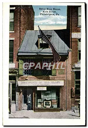 Carte Postale Ancienne Betsy Ross House Arch Street Philadelphia Pa Post office
