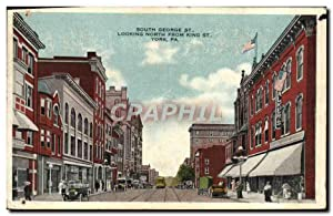 Carte Postale Ancienne South George St Looking North From King St York Pa