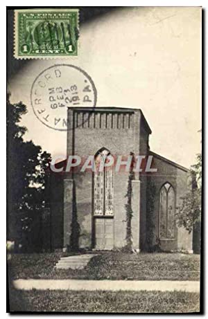 Carte Postale Ancienne Waterford Pa Church