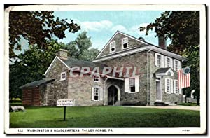 Carte Postale Ancienne Washington's Headquarters Valley Forge Pa