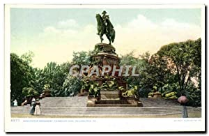 Carte Postale Ancienne Washington Monument Fairmount Park Philadelphia Pa