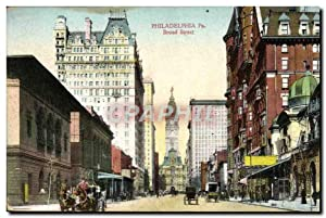 Carte Postale Ancienne Philadelphia Pa Broad Street