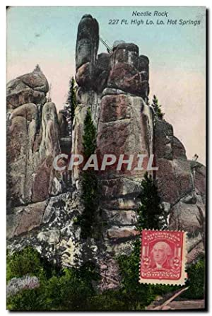 Carte Postale Ancienne Needle Rock Ft High Lo Lo Hot Springs