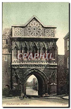 Carte Postale Ancienne Ethelbert Gate Norwich